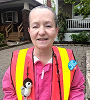 Elizabeth Savary crossing guard contest winner
