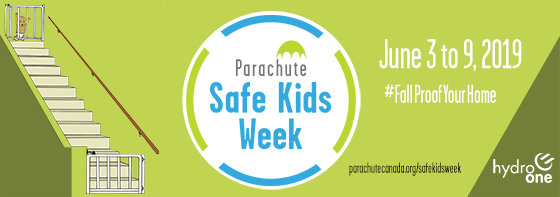 Banner image promoting Safe Kids Week hosted by Parachute on June 3 to 9, 2019