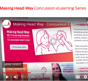 Screen capture of one slide from Making Head Way e-learning course