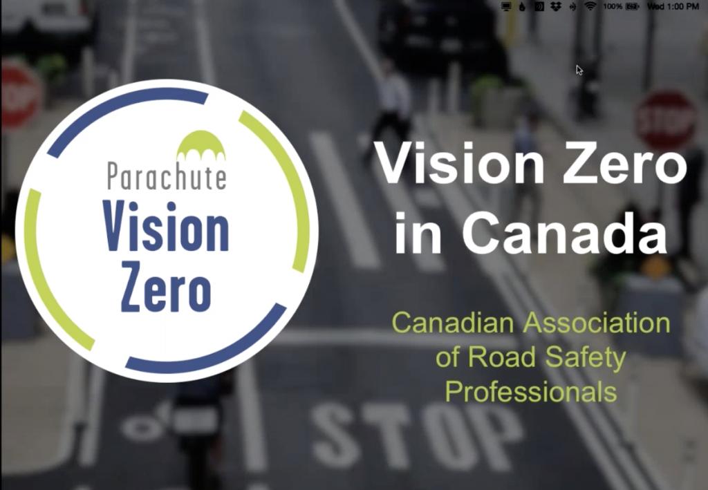 Screenshot of Vision Zero in Canada webinar