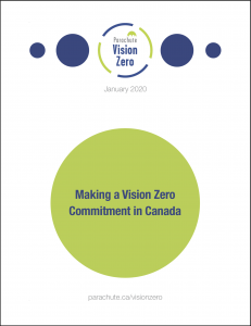 Cover of report Making a Vision Zero commitment in Canada