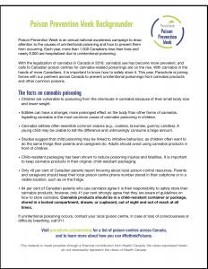 Poison Prevention Week 2020 Backgrounder-Thumbnail image